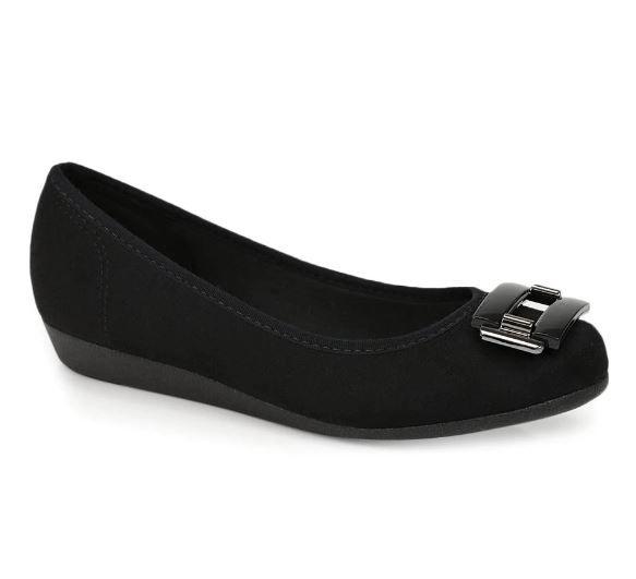 Sapato Sapatilha Moleca Anabela 5230.422 Feminino Promoção