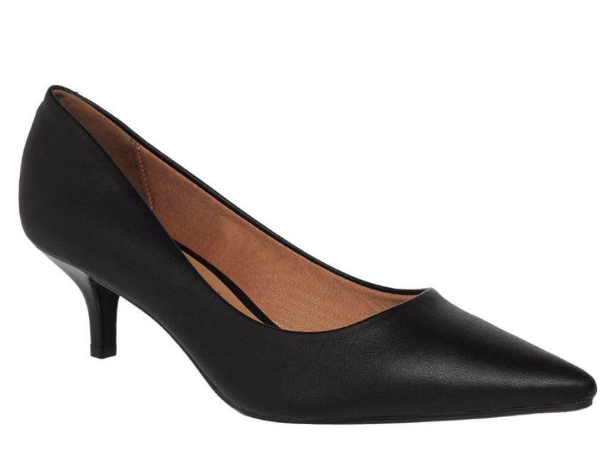 Sapato Scarpin Vizzano Salto Baixo Bico Fino 1334.100  Feminino