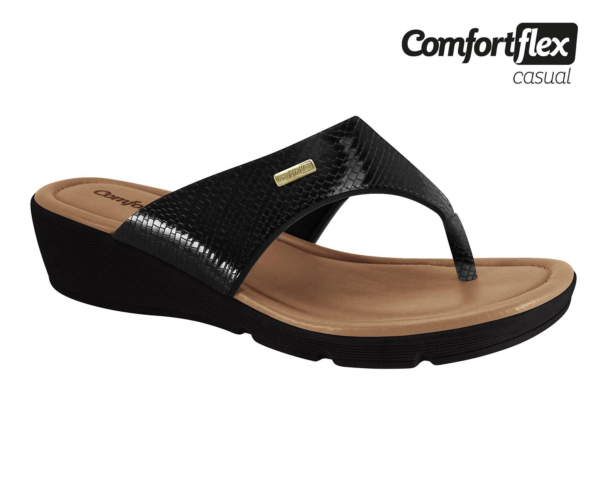 Tamanco Comfortflex Anabela Confortável 1968421 Feminino