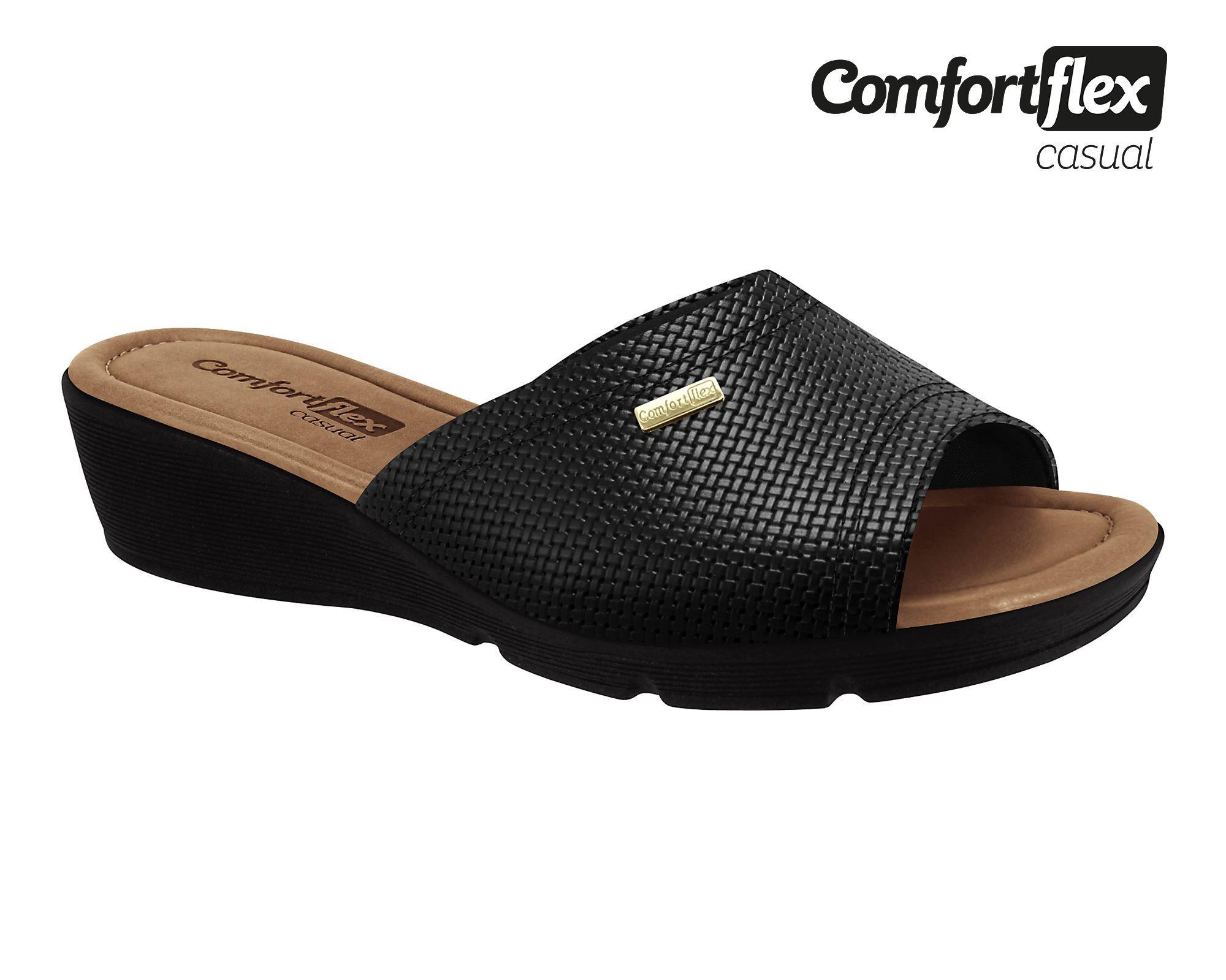 Tamanco Comfortflex Anabela Confortável 1968423 Feminino