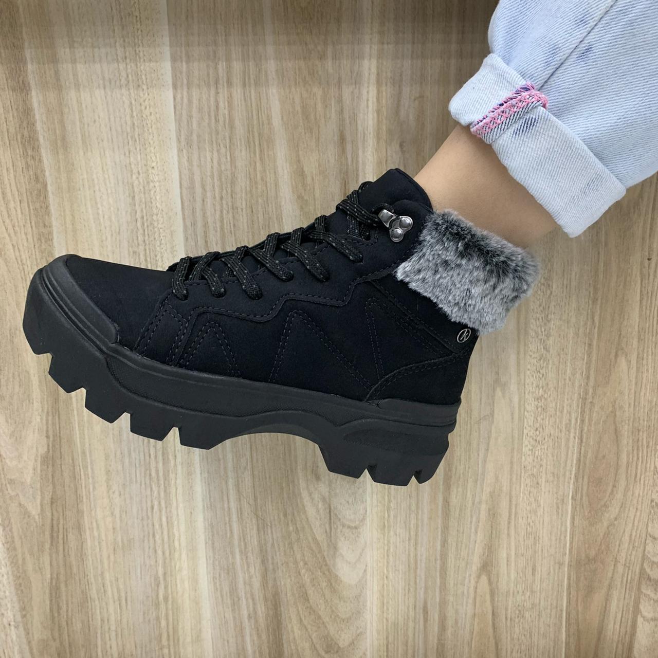 Tênis Kolosh Sneaker Cano Alto Bota Com Pelo C2601 Feminino