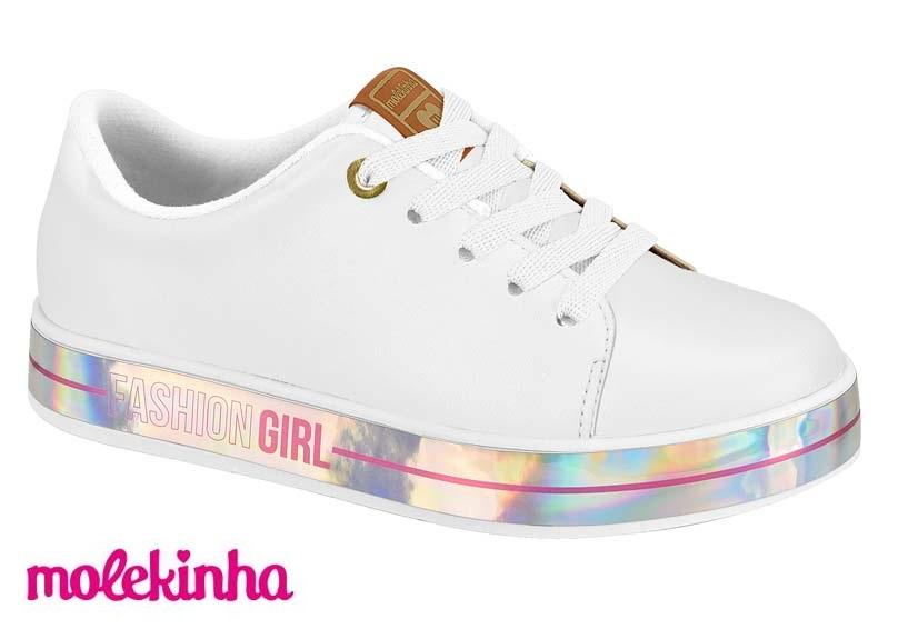 Tênis Molekinha Casual Fashion 2520.1411 Infantil Menina