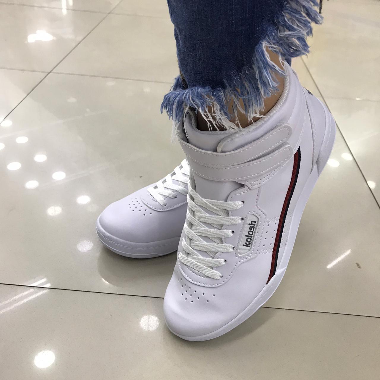 Tênis Kolosh Sneaker Cano Alto Bota Velcro C1661 Feminino
