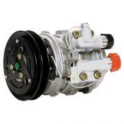 Compressor de ar condicionado 10P08 VW Gol - Parati - Fiat Uno - Polia em V - 3 Orelhas Original Denso