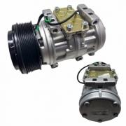 Compressor de ar condicionado 10P15 - 4 PASSANTES - POL 8PK - 24V C/EMBREAGEM
