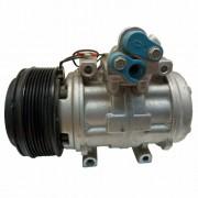 Compressor de ar condicionado 10P15 Mercedes 24 Volts - Denso