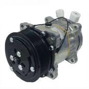 Compressor de ar condicionado 7H15 - 8PK - Saída vertical - Denso
