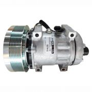 Compressor de ar condicionado 7H15 - Case - Colheitadeira - Trator Case Magnum 290 - New Holland - Original