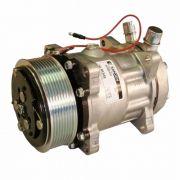 Compressor de ar condicionado - Sanden 7H15 - 8 orelhas - 12 Volts - Polia 8PK