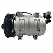 Compressor de ar condicionado TM21 - polia 8pk - 12 volts - 4 passantes
