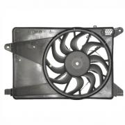 Ventoinha do radiador com defletor GM Agile - Montana 09>>  C/ Ar