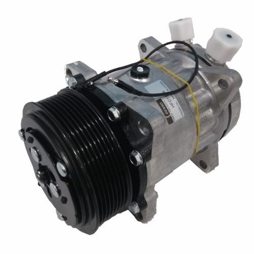 Compressor de ar condicionado 7H15 - 12 Volts - Polia 8PK - 8 Orelhas - Denso - Saída vertical