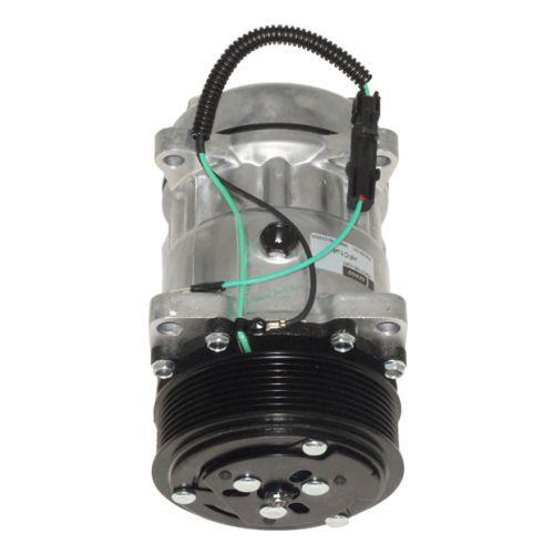 Compressor de ar condicionado Modelo Sanden 7H15 - 24 Volts. 8pk - Saída horizontal Denso