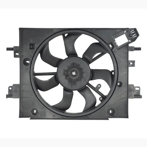 Ventoinha com defletor para o radiador GMV Logan - Sandero Motor  1.0 1.6 2013 em diante com ar condicionado marca Valeo Original