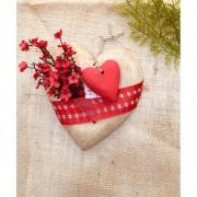 Coração Artesanal Vermelho