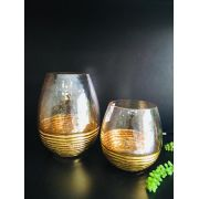 Dupla de Vasos Dourado