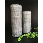 Dupla de Vasos Preto em Cimento