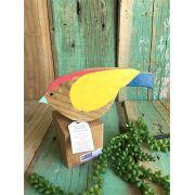 Pássaros em madeira de demolição