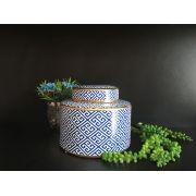 Potiche Azul em Cerâmica