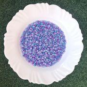 Meia Pérola 6mm Mesclada Azul/Lilás