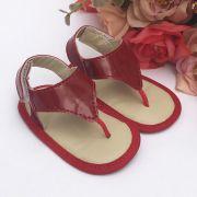 Sandália Vermelha Em Verniz