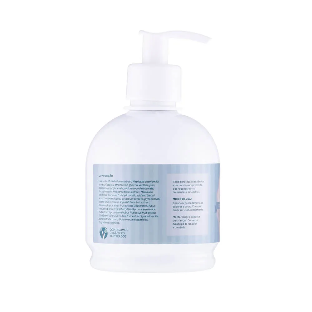 Cativa Natureza Shampoo e Sabonete 2 em 1 com Calêndula Natural 315ml