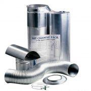 Kit Chaminé 90mm c/ 1,5m Alumínio Westaflex