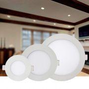 Luminária de Embutir LED Redonda Slim 6w 6000K Branca Kian