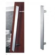 Puxador Inox Duplo Reto Para Porta Vidro/Madeira/Metal União Mundial 80cm  - Polido