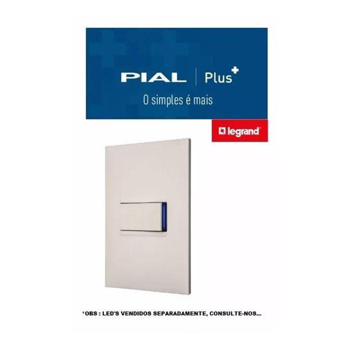 Conjunto Interruptor Simples Pial Plus +