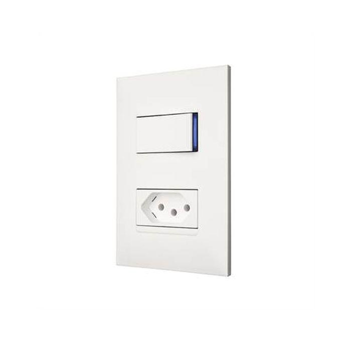 Conjunto Interruptor + Tomada 20A Pial Plus +