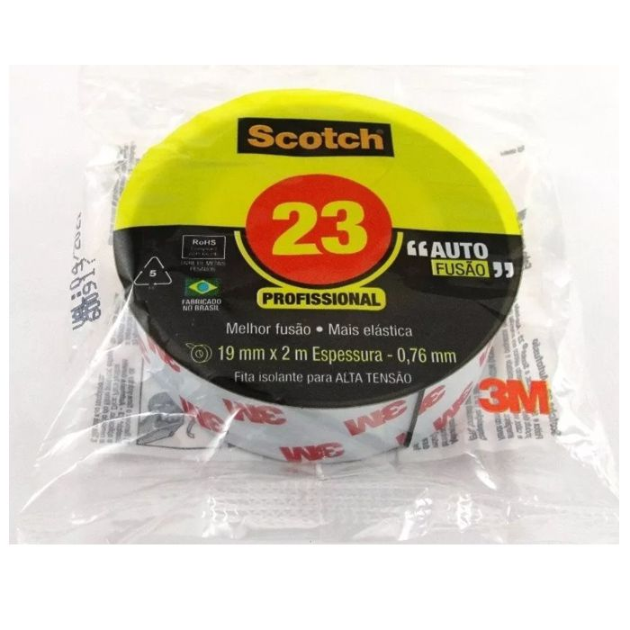Fita de Autofusão 3M™ Scotch™ 23 - 19mm x 2m