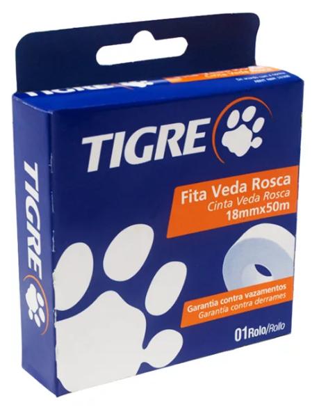 Fita Veda Rosca Tigre 18mm x 50m