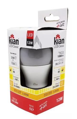 Lâmpada LED 12w 3000k Bivolt Amarela