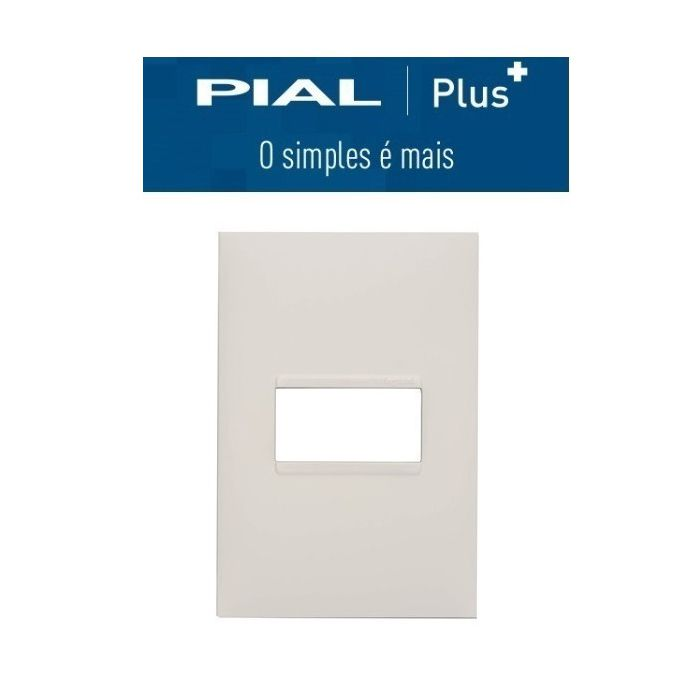 Placa 4 x2 1 interruptor Pial Plus +