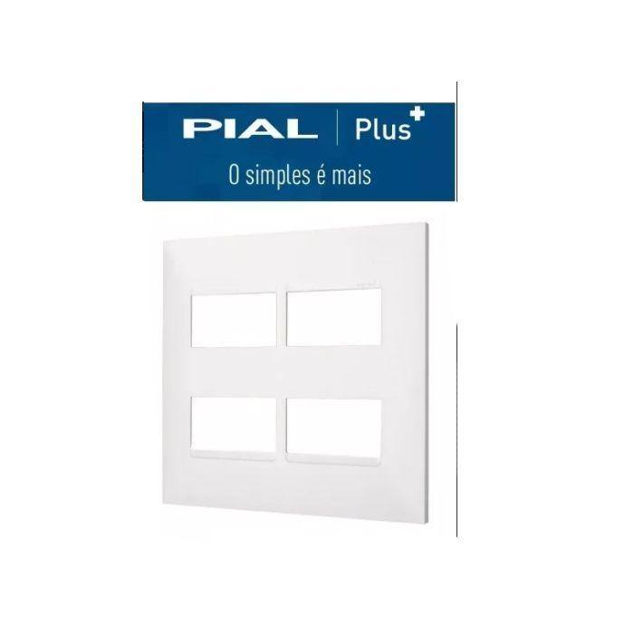 Placa 4x4  4 Interruptores Separados Pial Plus +