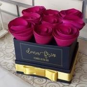 Caixa Flowers box Quadrada