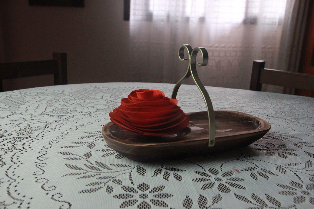 Bandeja  com flor