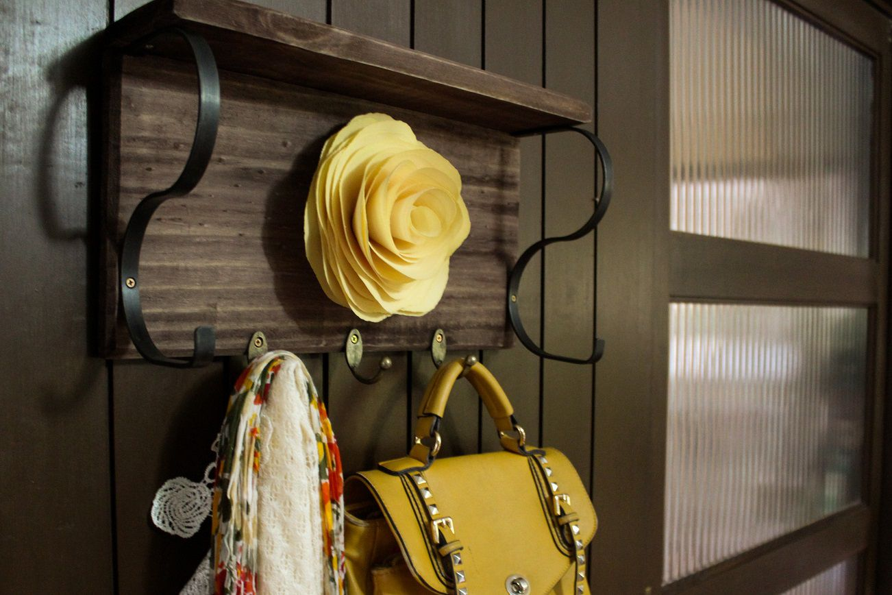 Cabideiro de parede Flor