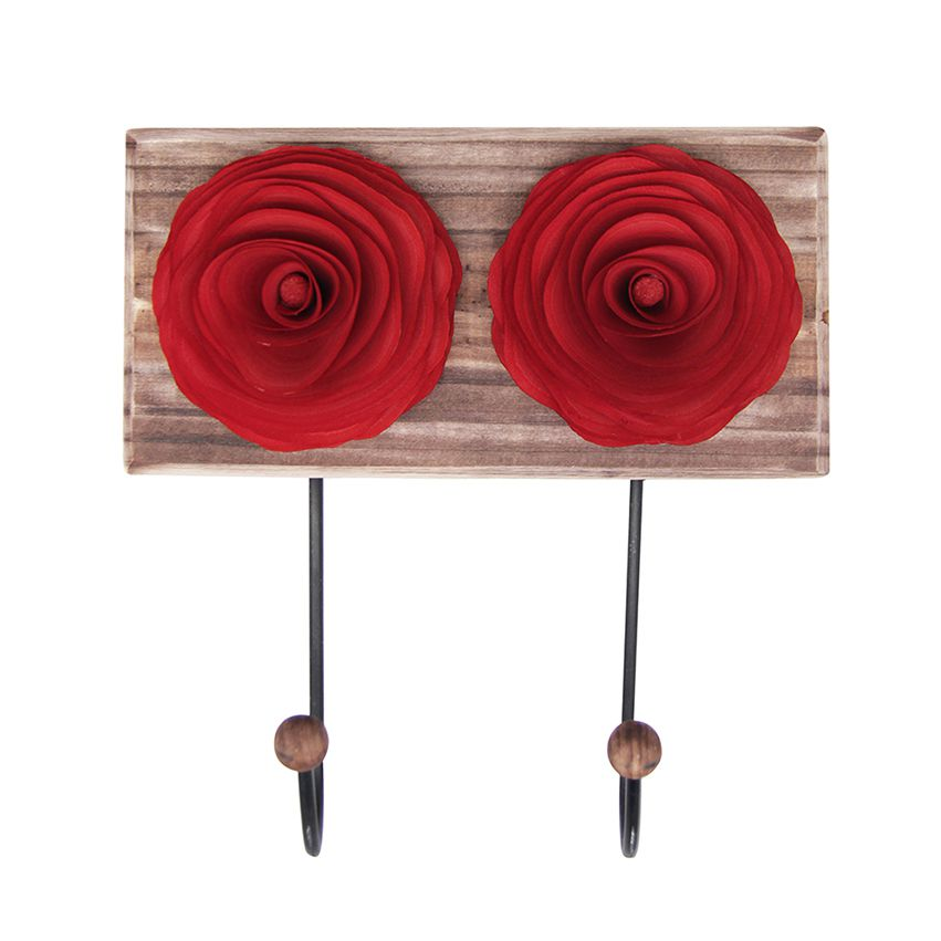Cabideiro duplo de parede Flor