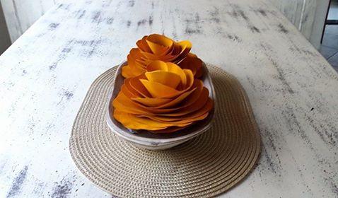 Enfeite de mesa de 2 flores