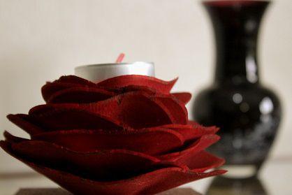 Flor com vela aromática