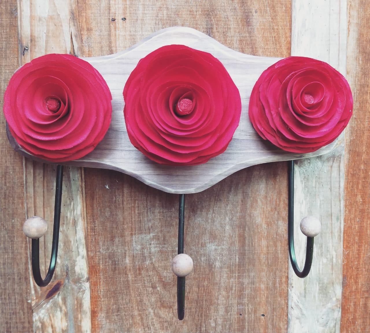 Porta objetos 3 flores