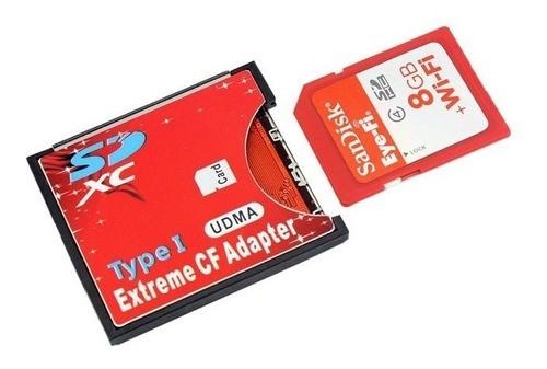 Adaptador Compact Flash Cf Para Sd Tipo 1 Câmeras Cf