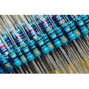 Resistor Metal Filme MF25 1/4W 1% Valores 1K0 Até 820K Caixa com 5000 Peças