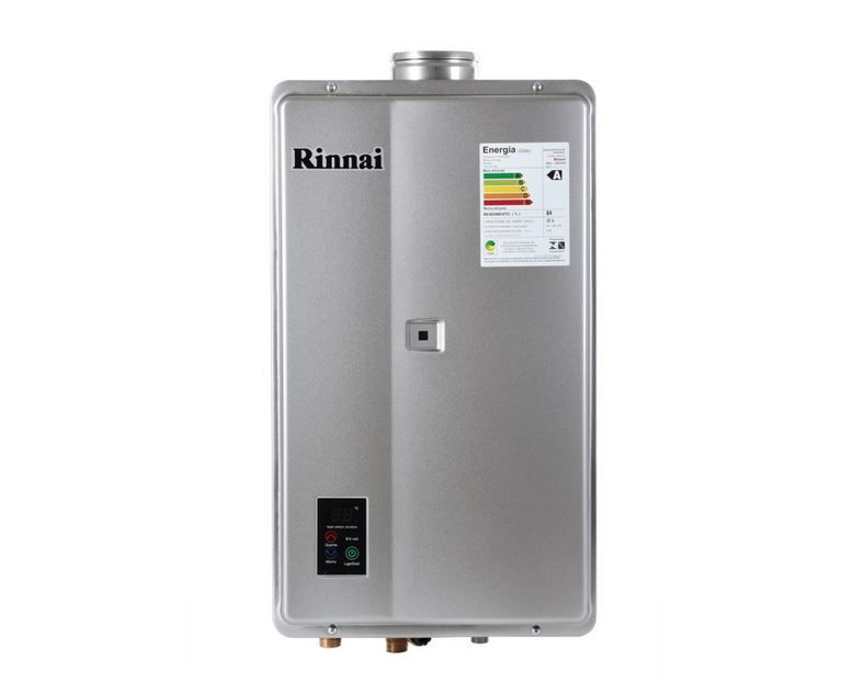 Aquecedor a Gás REU-2402 FEH Prata Rinnai 32,5 litros