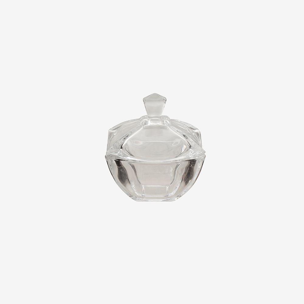 Bomboniere de vidro liso pequena