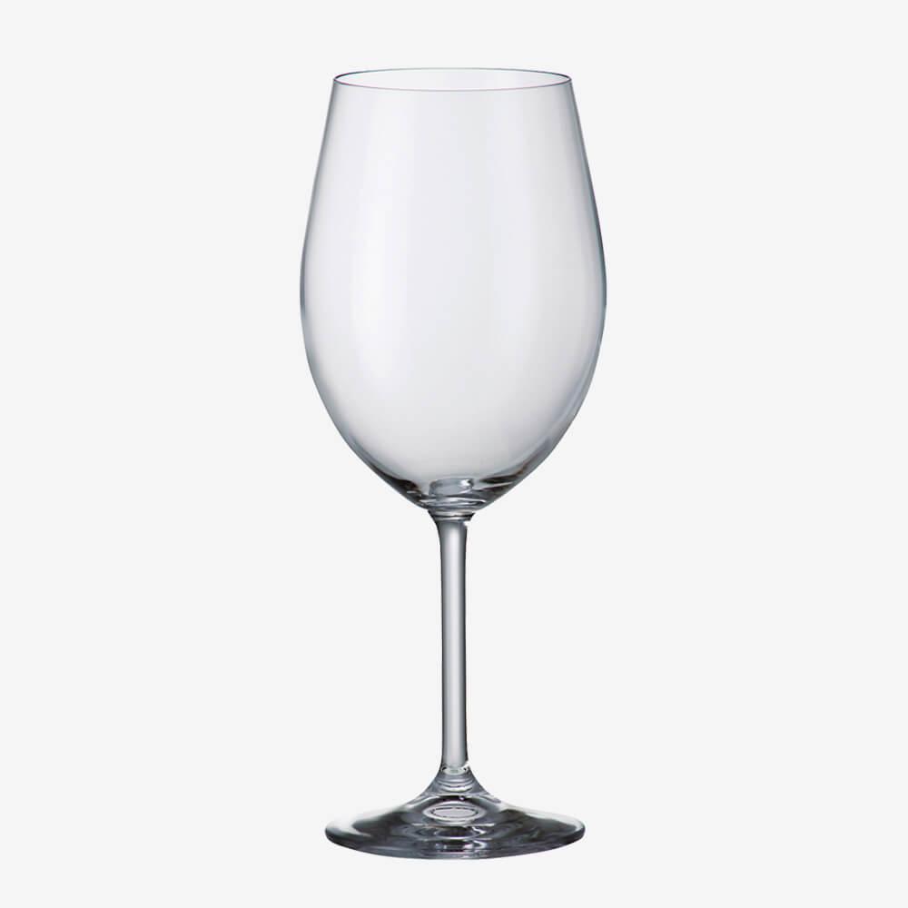 Jogo De 6 Taças De Cristal Para Vinho Bordeaux Gastro 580 Ml Bohemia