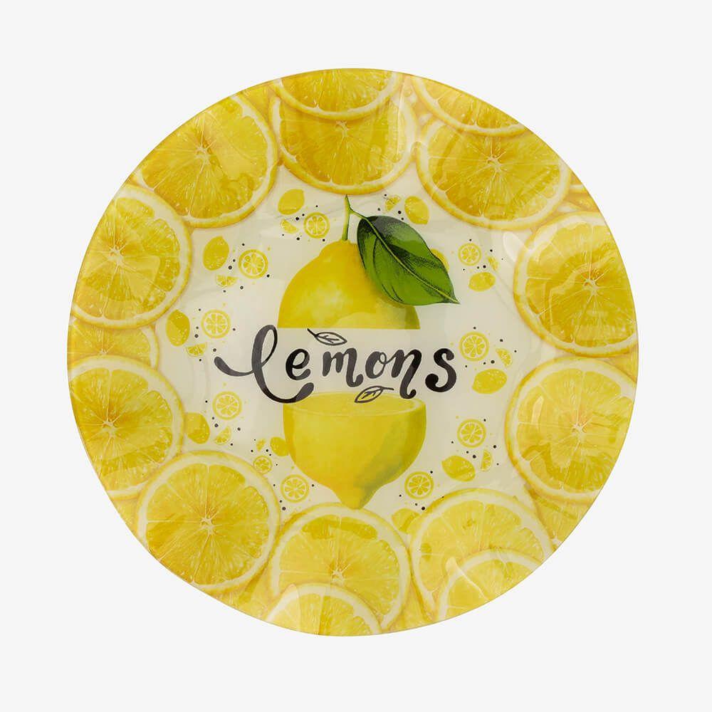 Jogo de pratos redondos Lemon 3 peças