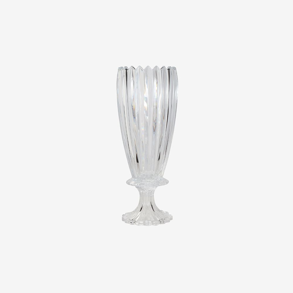 Vaso decorativo médio com pé em vidro - Noblesse